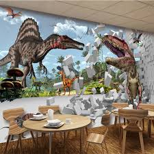 chambre dinosaure photo papier peint 3d brique dinosaure de mural kid chambre