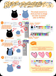 ms paint recolor tutorial by chocuu on deviantart