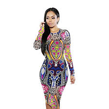 tonsee women long sleeve printed bodycon dress importance