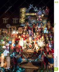 New Christmas Lights by House With Christmas Lights At Night Dyker Heights New York