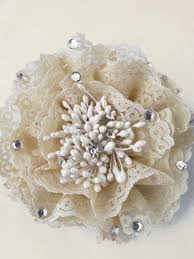 hair corsage lace rhinestone flower brooch pin hair clip hair accessories