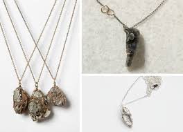 diy stone pendant necklace images Shades of tangerine raw mineral necklace diy jpg