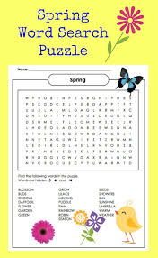 printable paper puzzles spring word search puzzle printable jinxy kids