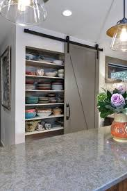 Sliding Kitchen Cabinet Kitchen Amazing Sliding Pantry Doors Design Ideas Within Ordinary