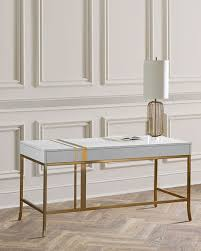 gold and white writing desk glam white desks for your home office in every style and price range