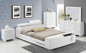 contemporary custom bedroom sets queen size bed white finish
