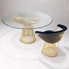 platner high table gold knoll