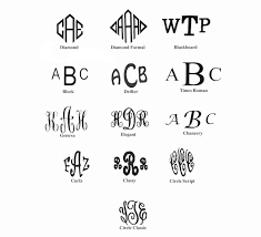 3 initial monogram fonts monogramming names room ornament