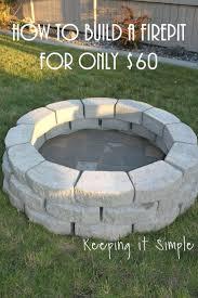 diy concrete patio ideas patio ideas simple fire pit patios build your own fire pit on