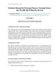 solution manual for personal finance turning money into wealth 6th