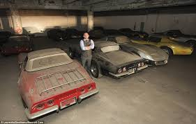 corvettes and more 36 corvettes are found collecting dust in a garage after 25 years