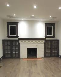 decor fireplace mantel design ideas with recessed lighting and