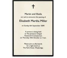 funeral invitation template free funeral announcement cards announcement cards and