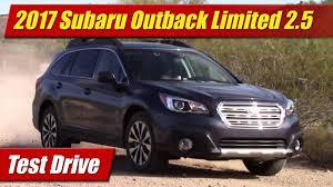 2017 subaru outback 2 5i limited black 2017 subaru outback limited 2 5 test drive youtube