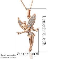 fairy pendant necklace images 18k rose gold austrian crystal tinkerbell fairy pendant necklace jpg