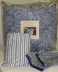 amazon com lauren by ralph lauren townsend blue paisley 4 piece