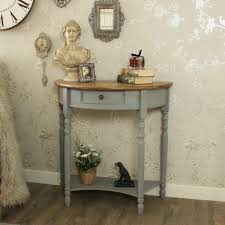 half oval console table great mirrored console table of demilune half moon console table