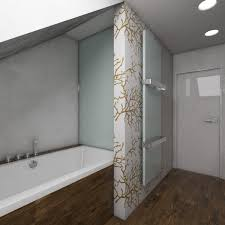 wallpaper bathroom designs bathroom small white attic bathroom with glass shower door ideas