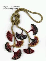 leaf pattern necklace diane fitzgerald presents beautiful beads