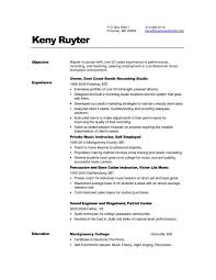 Musician Resume Examples by Guitar Teacher Resume Samples Relief Teacher Resume Samples