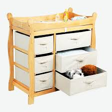 badger basket sleigh her changing table amazon com badger basket baby changing table with six baskets