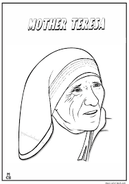 saint coloring page famous people coloring pages mother teresa 01 prek saint theresa