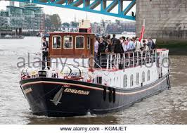 thames river cruise edwardian boat excursion on the river thames in london uk stock photo royalty