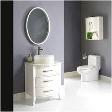 Bathroom Round Mirror by Round Mirror Attached To The Wall Of A Nice Blue Color With A