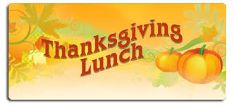 thanksgiving lunch schedule thursday november 19 sunset ridge