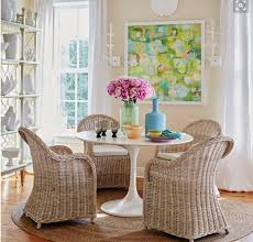 Dining Room Wicker Chairs The Tulip Table And The Wicker Chair The Pair For