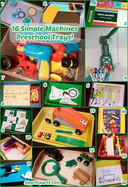 16 preschool simple machines work trays