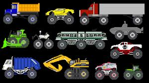 monster truck kids show monster vehicles 2 monster construction u0026 street vehicles the