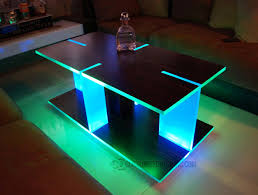 ultra modern led lighted coffee table