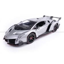 Lamborghini Veneno Back View - lamborghini veneno silver officially licensed