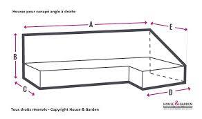 housse sur mesure canapé housse protection sur mesure pour canapé angle à droite