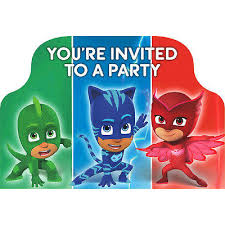 pj masks invitations 8ct pj masks partyware party started