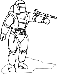 astronaut fire coloring wecoloringpage
