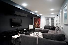 black and gray living room furniture gorgeous minimal room in black white and grey alluring