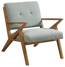 Upholstered Accent Chair Mid Century Modern Rocket Tufted Seafoam Upholstered Accent Arm