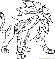Coloring Page Of A Solgaleo Pokemon Sun And Moon Coloring Page Free Pokémon Sun And by Coloring Page Of A