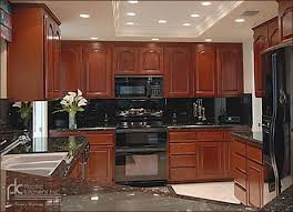 Cherry Wood Kitchen Cabinets With Black Granite Sofa Appealing Cherry Kitchen Cabinets Black Granite Refacing