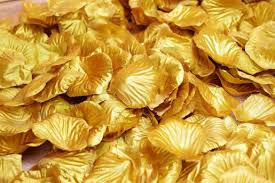 silk petals gold silk petals confetti for weddings in bulk from