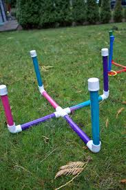pvc pipe ring toss via sowdering about kid crafts games puzzles