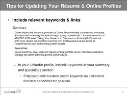 profile summary resume lukex co