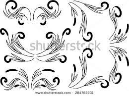 royalty free vintage baroque frame scroll ornament 363788570