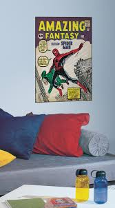 rmk1658slg spiderman 1 peel stick comic book cover wall decal rmk1658slg wall stickers wall decor wall decals spider man self adhesive room decor repositionable
