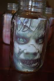 halloween illusion head in a jar illusion