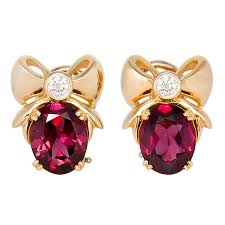 garnet earrings and co gold and garnet earrings at 1stdibs