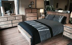 meubles chambre mobilier chambre à coucher en acacia au look industriel