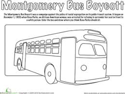 montgomery bus boycott coloring page black history month